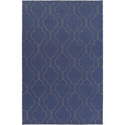 Amenia Hand-Woven Dark Blue Area Rug Rug Size: Rectangle 5 x 76