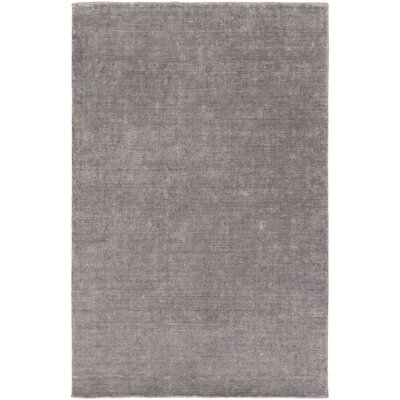 Racine Hand-Loomed Charcoal Area Rug Rug size: Rectangle 6 x 9