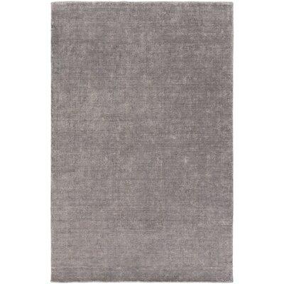 Racine Hand-Loomed Charcoal Area Rug Rug size: 4 x 6