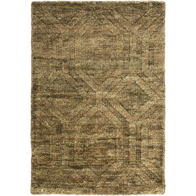 Limewood Hand-Knotted Dark Drown Area Rug Rug size: Rectangle 2 x 3