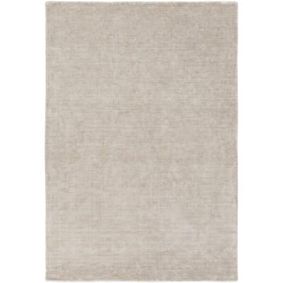 Racine Hand-Loomed Light Gray Area Rug Rug size: Rectangle 8 x 10