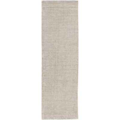 Racine Hand-Loomed Light Gray Area Rug Rug size: Runner 26 x 8