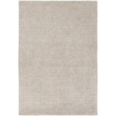 Racine Hand-Loomed Light Gray Area Rug Rug size: 4 x 6