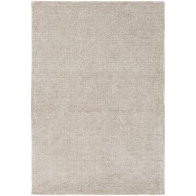 Racine Hand-Loomed Light Gray Area Rug Rug size: 5 x 76