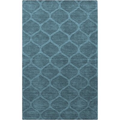 Loewen Hand-Loomed Teal Area Rug Rug Size: Rectangle 33 x 53