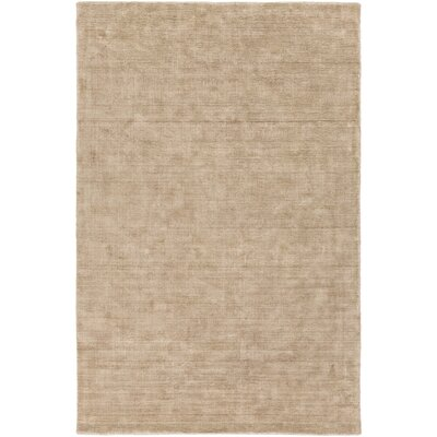 Racine Hand-Loomed Camel Area Rug Rug size: Rectangle 6 x 9