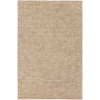 Racine Hand-Loomed Camel Area Rug Rug size: 9 x 13