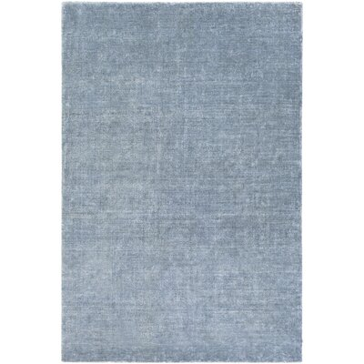 Racine Hand-Loomed Navy Area Rug Rug size: Rectangle 9 x 13