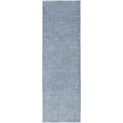 Racine Hand-Loomed Navy Area Rug Rug size: Runner 26 x 8