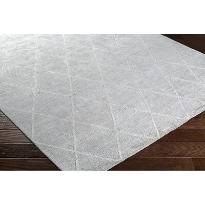 Parkstone Hand-Knotted Ivory Area Rug Rug size: 6 x 9