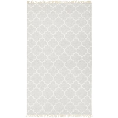 Palladio Hand-Woven Light Gray/Cream Area Rug Rug size: Rectangle 8 x 10
