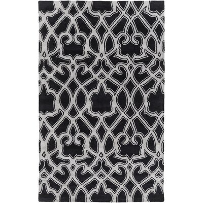 Remington Hand-Tufted Black/Gray Area Rug Rug size: 33 x 53