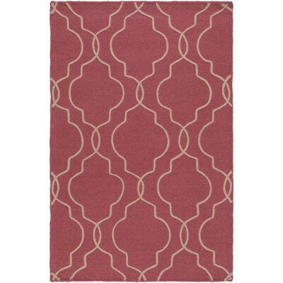 Amenia Hand-Woven Rose/Cream Area Rug