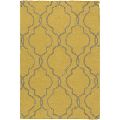 Amenia Hand-Woven Mustard/Medium Gray Area Rug