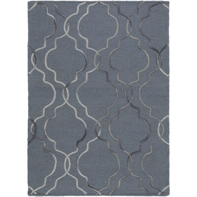 Amenia Hand-Woven Denim/ Black Area Rug