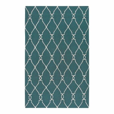 Findley Turquoise/Ivory Area Rug Rug Size: Rectangle 2 x 3