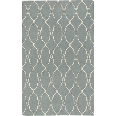 Findley Sky/Ivory Area Rug Rug Size: Rectangle 9 x 13