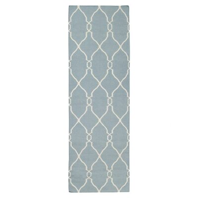 Findley Sky/Ivory Area Rug Rug Size: Runner 26 x 8