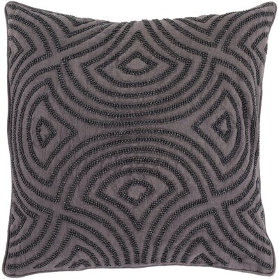 Lawrenceville 100% Linen Throw Pillow Cover Size: 22 H x 22 W x 0.25 D, Color: BlackGray