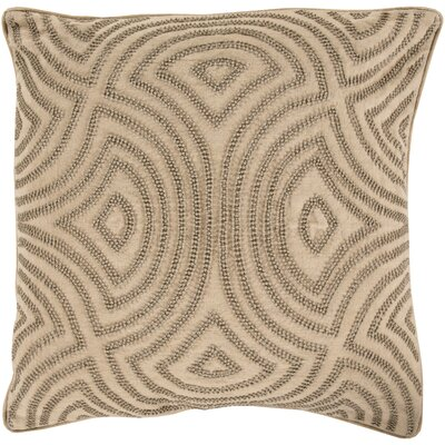 Lawrenceville 100% Linen Throw Pillow Cover Size: 20 H x 20 W x 1 D, Color: YellowNeutral