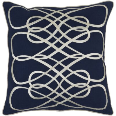Powell Throw Pillow Cover Color: BlueNeutral