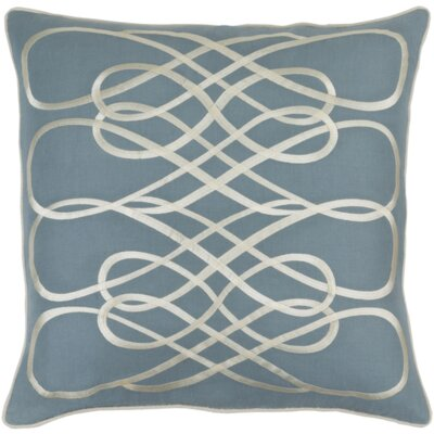 Powell Throw Pillow Cover Color: DenimBeige