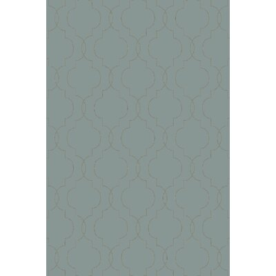 Amenia Teal/Olive Geometric Rug Rug Size: Rectangle 3'6