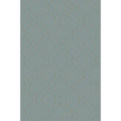 Amenia Teal/Olive Geometric Rug Rug Size: 36 x 56