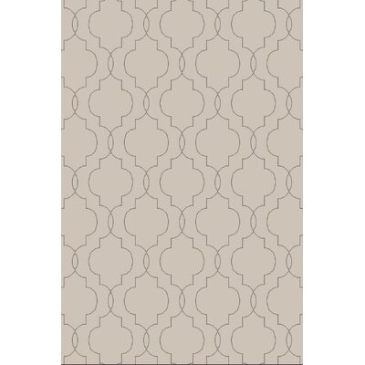 Amenia Light Gray Geometric Rug Rug Size: 36 x 56
