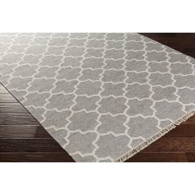 Palladio Hand-Woven Gray/White Area Rug Rug Size: Rectangle 33 x 53