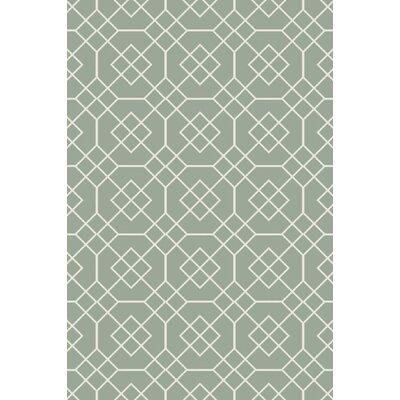 Amenia Sea Foam Geometric Rug Rug Size: 2 x 3