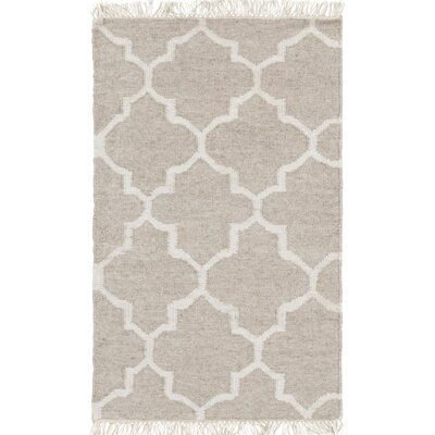 Palladio Hand-Woven Gray Area Rug Rug Size: Rectangle 33 x 53