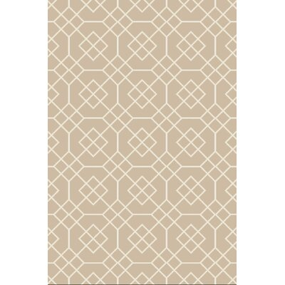 Amenia Beige/Ivory Geometric Rug Rug Size: Rectangle 5 x 76