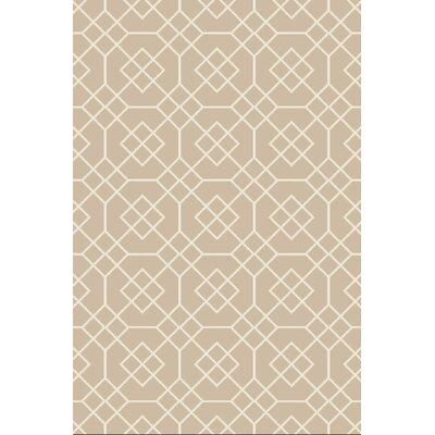 Amenia Beige/Ivory Geometric Rug Rug Size: 2 x 3