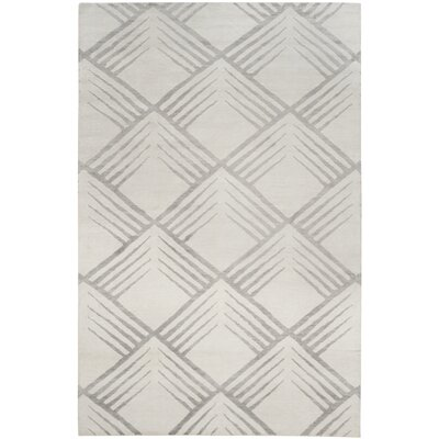 Pawlak Robert Hand-Knotted Gray Area Rug Rug Size: 6 x 9