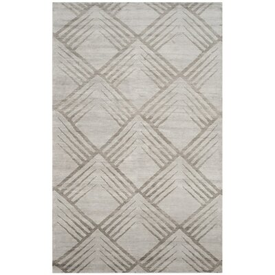 Robertsville Hand-Knotted Gray Area Rug Rug Size: 6 x 9