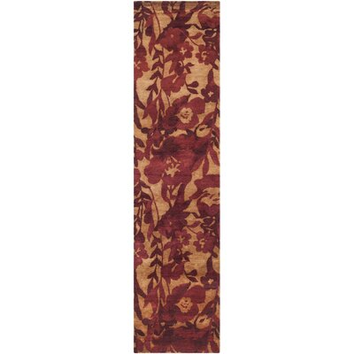 Rosemount Hand-Knotted Red Area Rug Rug Size: Runner 2'6