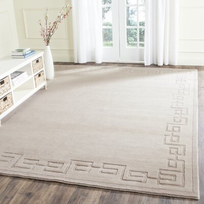 Alaskan Hand-Knotted Silver Area Rug Rug Size: Rectangle 6 x 9