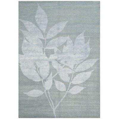 Alder Hand-Knotted Light Gray/White Area Rug Rug Size: 8 x 10
