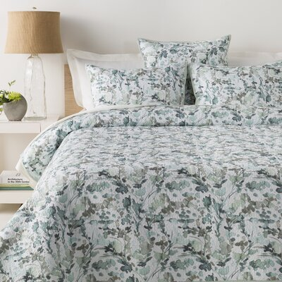 Reynoldsburg Quilt Set Size: King/California King, Color: Aqua/Mint