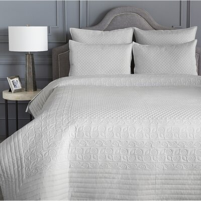 Pocono Quilt Coverlet Size: Twin, Color: Pale Blue