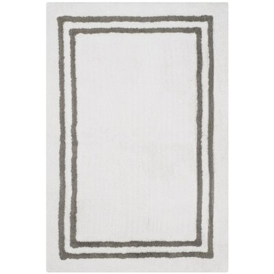 Lockheart Stripes Plush Bath Rug Color: Dark Gray