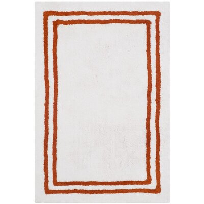 Amalthea Stripes Plush Bath Rug Color: Rust