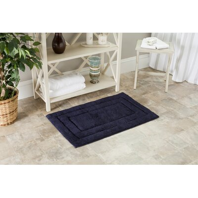 Amboyer Bath Rug Color: Navy/Navy