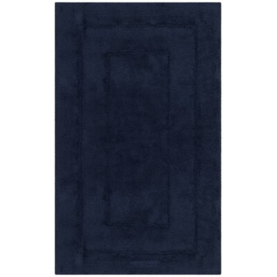Manteno Bath Rug Color: Navy/Navy, Size: 1-9 x 2-10