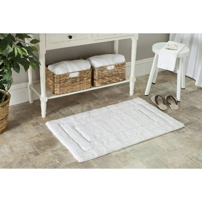 Amboyer Bath Rug Color: White/White