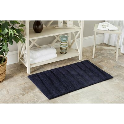 Ambridge Bath Rug Color: Navy/Navy