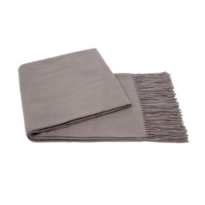 Dickson Wool Throw Color: Steel Grey