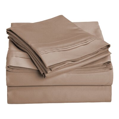 Amherst 1000 Thread Count 100% Cotton Sheet Set Color: Taupe