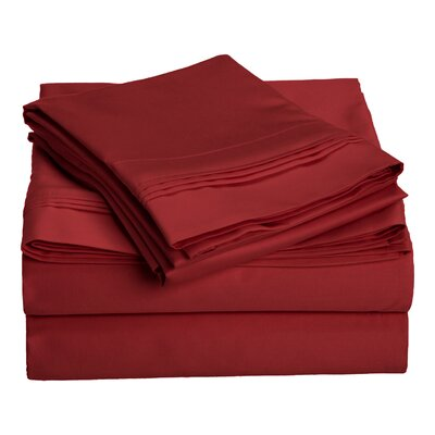 Amherst 1000 Thread Count 100% Cotton Sheet Set Color: Burgundy